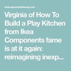Virginia of How To Build a Play Kitchen from Ikea Components fame is at it again: reimagining inexpensive Ikea pieces into useful, attractive playthings for her daughter Ag Dolls, Girl Dolls, Barbie Organization, Doll Closet, Ikea Hack, American Girl, Virginia, Projects To Try, Daughter