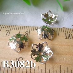 12 pcs 9mm brass plated silver filigree bead caps for by diyla, $2.00