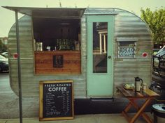 "Tin Can Roasters ""portable"" coffee shop in downtown Lexington!  How cute is this??!!"