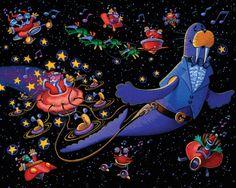 Venick and the Space Nicks Giclee Print by StubbornPixelStudios