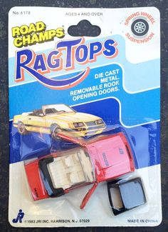1983 Road Champs Rag Tops Red Ford Mustang GT Boss Diecast Convertible Toy Car #RoadChamps #Ford