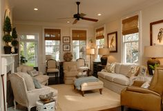 Warm traditional living room