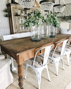 The Cheapest & Easiest Way To Shiplap – Office Update Küchen Design, House Design, Interior Design, Farmhouse Table, Farmhouse Decor, Sunroom Decorating, Decorating Ideas, Dining Room Table, Coffee Table To Dining Table Diy
