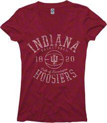 Indiana Hoosiers Cardinal Women's Sporty Hoops Deep V-Neck T-Shirt $19.99 http://www.fansedge.com/Indiana-Hoosiers-Cardinal-Womens-Sporty-Hoops-Deep-V-Neck-T-Shirt-_-1820114031_PD.html?social=pinterest_pfid52-01523