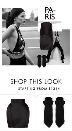 """For the dear @blonde-bedu ❤️"" by katelyn999 ❤ liked on Polyvore featuring Balmain, Yves Saint Laurent and Dion Lee"
