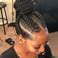 Wonderful Women Hairstyles Shaved Ideas 44 Gorgeous Braided Bun Hair Looks 2018 for Black Women. Looking for best black women hairstyles to show off in See here, we have collected amazing trends of braided bun hairstyles for black ladies so that Braided Bun Hairstyles, Wedge Hairstyles, Braided Hairstyles For Black Women, African Braids Hairstyles, Girl Hairstyles, Protective Hairstyles, Hairstyles 2016, Wedding Hairstyles, Black Bun Hairstyles
