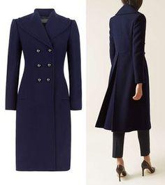 HOBBS London 'Gianna' French Navy Wool Coat