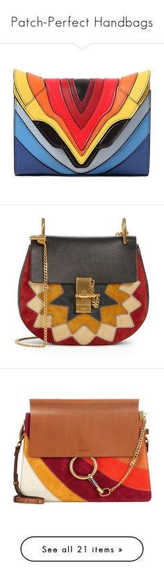 """""""Patch-Perfect Handbags"""" by polyvore-editorial ❤ liked on Polyvore featuring patchworkbags, bags, handbags, shoulder bags, chloe, multicolour, shoulder bag purse, multi colored purses, multi color handbag and shoulder handbags"""