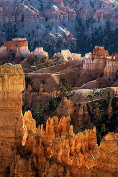 Bryce Canyon, Southern Utah. It truly looks like this and you can walk down in the canyon among these formations. Truly spectacular.