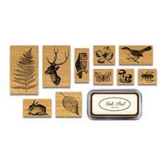 Cavallini Flora & Fauna Stamp Set in Tin