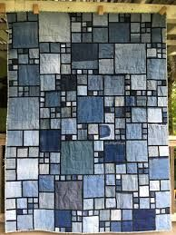 Image result for stained glass denim quilt