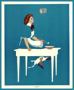 C. Coles Phillips 'Illusion' 1912 from 'A Gallery of Girls'