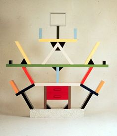 """""""Carlton"""" Room Divider by Sottsass. I got to handle one of these when we did a show of furniture from the Vitra Design Museum. Heavy as hell and just as cool."""