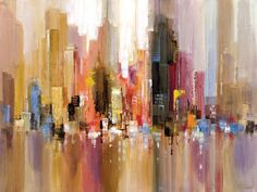 City Spree Painting Print on Wrapped Canvas