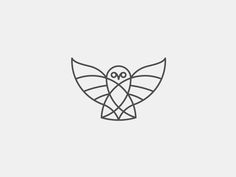 Owl In Stroke design by Grorge Bokhua. Brilliantly stylized!