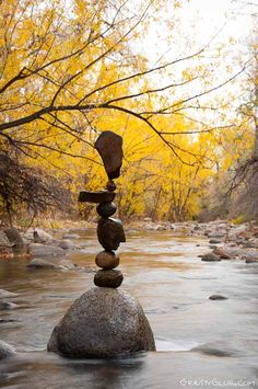 The art of balancing rocks in Michael Grab's ongoing project Gravity Glue