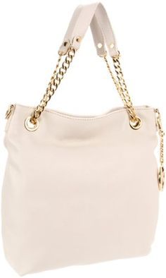 Can be a purse, Can be a crossbody...MICHAEL Michael Kors Jet Set Chain Medium Vanilla Shoulder Bag Tote