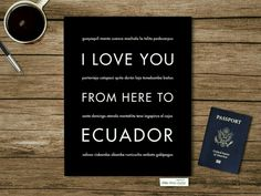 I LOVE YOU  FROM HERE ECUADOR