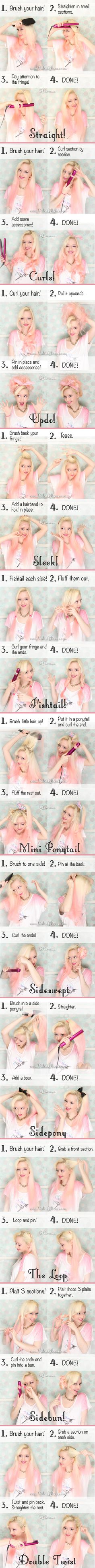 Simple tutorial for a very simple lazy day cute hair style full