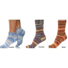 Mary Maxim - Free Trio of Socks Knit or Crochet Pattern - Free Patterns - Patterns & Books