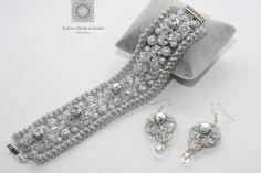 Dove Grey, Beaded Bracelets, Beads, Diamond, Jewelry, Fashion, Beading, Moda, Jewlery