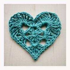 Granny Heart Motif By Crochet Tea Party - Free Crochet Pattern - (ravelry) More