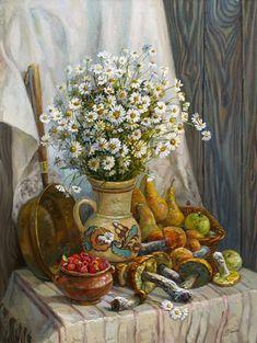 Панов Эдуард. Натюрморт с полевыми цветами
