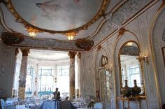 Restaurant of Pestana Palace, Lisbon, Portugal - Amazing dinning room space & service.