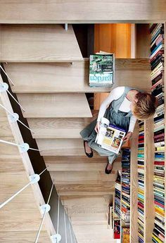 book case stairs