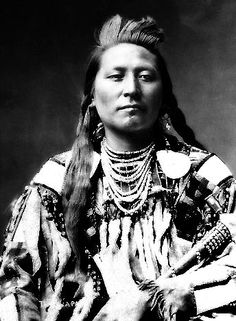Plenty Coups, later the primary Crow chief, as a young man.