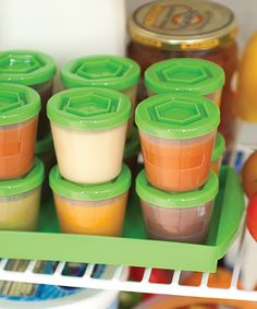 Another great find on #zulily! Green Baby Food Storage Containers #zulilyfinds