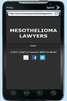 Mesothelioma Lawyers is an eBook that provides you with information on law firms that handle Mesothelioma cases. You will find the following in this book:<p>Tennessee mesothelioma attorney<br>Atlanta Mesothelioma Lawyers<br>Illinois Mesothelioma Lawyers<br>Ohio Mesothelioma Attorney<br>New York city mesothelioma attorney<br>Nevada mesothelioma lawyer<br>Arkansas Mesothelioma Lawyer<br>Mesothelioma Law firm California<br>Mesothelioma Attorney Florida