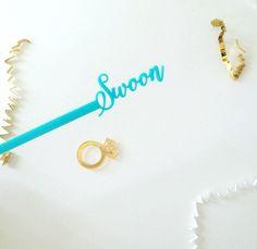 Swoon Swizzle Sticks,Love,Drink Stirrer,Cocktail Stirrer,Bridal Shower,Engagement Party,Romantic Wedding,Stir Stick,Bachelorette Party,6 Pk by JennandJulesDesigns on Etsy