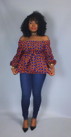 African print off shoulder top with sash ,african clothing,women's Latest African Fashion Dresses, African Print Dresses, African Print Fashion, Africa Fashion, African Dress, Ankara Fashion, African Prints, African Blouses, African Tops