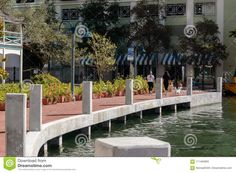 Photo about Riverwalks dock in downtown Ft. Lauderdale in 2018. Park view with the Las Olas river and walkway. Image of riverwalk, luxury, boat - 111494855