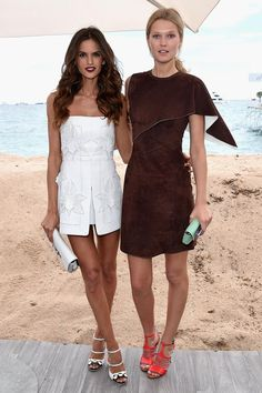 Izabel Goulart and Toni Garrn at the launch of the new book 'Fendi by Karl Largafeld' | Harper's Bazaar