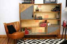 Znalezione obrazy dla zapytania jak przerobić meblościankę z prl Vintage Home Decor, Liquor Cabinet, Retro Vintage, Bookcase, Shelves, Storage, Furniture, Flat, Living Room