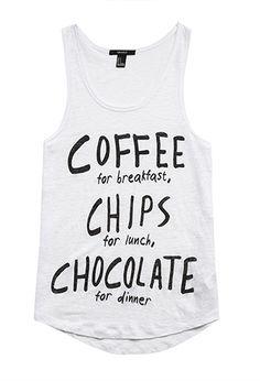 My Life LOL Chocolate Dinner Linen Tank | FOREVER21