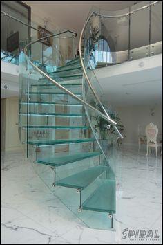 Stainless steel inner stringer and glass balustrading