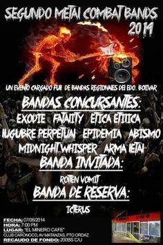 """Cresta Metálica Producciones » """"Segundo Metal Combat Bands 2014″ este 7 de junio en Puerto Ordaz"""