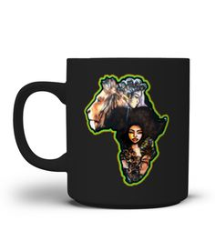 """# Afrocentric Afro Hair Mug .  This is T-shirt for Black woman with natural hair, Afro, Black girls, Headwraps Women, Soul Sista, curls girls. Great gift for a strong black women who wears curly, kinky, coily, type 3a, 3b, 3c curly hair, type 4a, 4b, 4c kinky hair, locs nappy hair, black or ethnic women, mom, Afro mother day gift, sister, grandmother, nana, grandma, black girl birth day gift and tee. Natural hair women are strong, black, magic, educated, melanin, curvy, queen. Black is beautiful tshirt, melanin shirts, African pride shirt Melanin Poppin tee. Secured payment via Visa / Mastercard / Amex / PayPalHow to place an order1.Choose the model from the drop-down menu2.Click on """"Buy it now""""3.Choose the size and the quantity4.Add your delivery address and bank details African American Hairstyles, African American Women, Grandmother Gifts, Nana Grandma, Black Girls Rock, Black Girl Magic, Melanin Shirt, American Curl, Natural Accessories"""