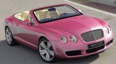 Pink Convertable Bentley