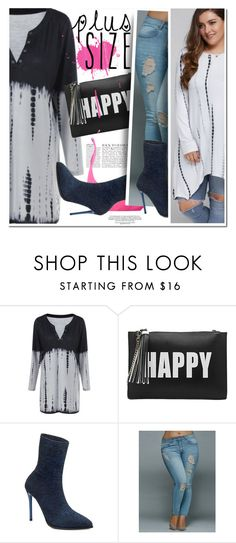 """Happy Plus size girl"" by ansev ❤ liked on Polyvore featuring Melie Bianco, Anja and rosegal"
