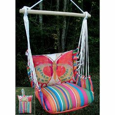 Vibrant Butterfly Swing with Storage Tote