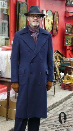 Navy ulster overcoat