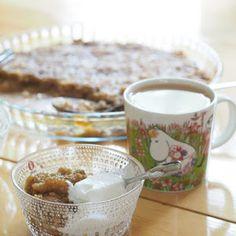 Kuohkeat ja helpot Muumimamman pannukakut - Pilviraitti - sisustusblogi Cereal, Pudding, Breakfast, Tableware, Desserts, Food, Tailgate Desserts, Dinnerware, Meal