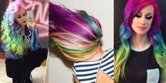 A month in hair colors! Today: rainbow shades!