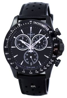 Features: Black PVD Stainless Steel Case Leather Strap Quartz Movement Caliber: ETA G10.212 Scratch Resistant Sapphire Crystal Black Dial Chronograph Function Tachymeter Scale Luminous Skeleton Hands Date Display Buckle Clasp 100M Water Resistance Approximate Case Diameter: 42.5mm Approximate Case Thickness: 11.2mm Skeleton Hands, Authentic Watches, France, Watch Sale, Casio Watch, Stainless Steel Case, Krystal, Chronograph, Watches For Men