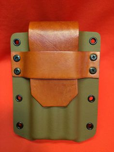 Here is the Coyote Tan Kydex and Light Brown Leather MFT Tactical Cigar Holder. The cigar holder features coyote tan kydex and Light brown leather flap and stra Zombie Gear, Zombie Apocalypse, Cheap Cigars, Cigar Holder, Edc Bag, Leather Projects, Leather Crafts, Bug Out Bag, Kydex