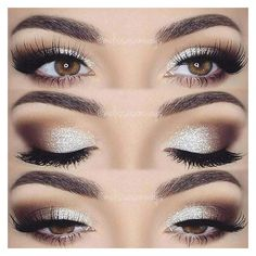 Coffee brown and white eye makeup. Glamorous wedding make up. Boho Bride make up. Wild bride make up Makeup Hacks, Makeup Goals, Makeup Inspo, Makeup Inspiration, Makeup Trends, Makeup Geek, Makeup Style, Makeup Ideas 2018, 2017 Makeup